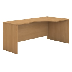 """Bush Business Furniture Components Corner Desk Right Handed 72""""W, Light Oak, Standard Delivery"""
