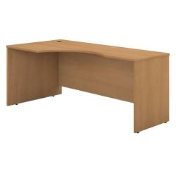 """Bush Business Furniture Components Corner Desk Left Handed 72""""W, Light Oak, Standard Delivery"""