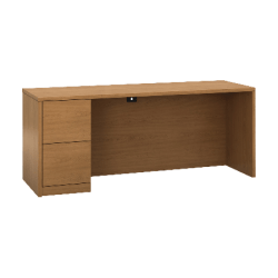 "HON 10500 H105904L Credenza - 2-Drawer - 72"" x 24"" x 29.5"" x 1.1"" - 2 - Single Pedestal on Left Side - Material: Wood - Finish: Harvest, Laminate"