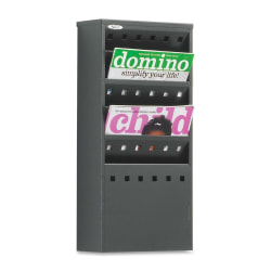 "Safco® Steel Magazine Rack, 5 Pockets, 20 1/2""H x 10""W x 4""D, Black"