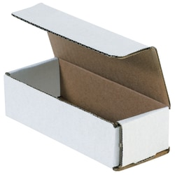 """Office Depot® Brand 8"""" Corrugated Mailers, 2""""H x 3""""W x 9""""D, White, Pack Of 50"""