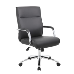 Boss Office Products Modern Ergonomic High-Back Conference Chair, Black