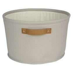 "Realspace® Medium Canvas Storage Bin, 8-1/2"" x 14"" x 14"", Tan"