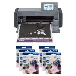 Brother® ScanNCut SDX125e 7-Piece DIY Cutting Machine Set With Scanner, Titanium/Gray