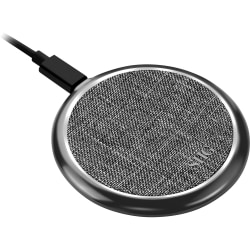 SIIG Premium Wireless Smartphone Charger Pad - Fabric - 5 V DC, 9 V DC Input - Input connectors: USB