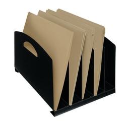 Brenton Studio™ Recycled Vertical Sorter, 5-Compartment, Black