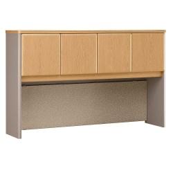 "Bush Business Furniture Office Advantage Hutch 60""W, Light Oak/Sage, Standard Delivery"