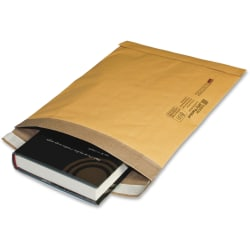 """Sealed Air Laminated Air Cellular Cushion Mailers - Padded - 11 1/2"""" Width x 16"""" Length - Self-sealing - 10 / Pack - Gold"""