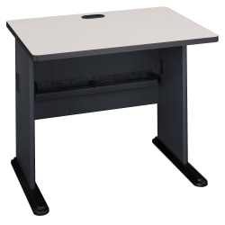 "Bush Business Furniture Office Advantage Desk 36""W, Slate/White Spectrum, Standard Delivery"