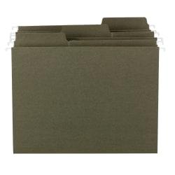 Smead® FasTab® Hanging Folders With 1/3-Cut Tabs, Letter Size, Standard Green, Box Of 20 Folders