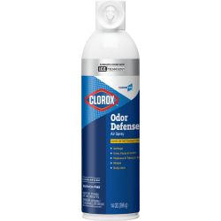 Clorox Commercial Solutions Odor Defense Aerosol - Aerosol - 14 fl oz (0.4 quart) - Clean Air - 912 / Pallet - Odor Neutralizer, Long Lasting, Bleach-free