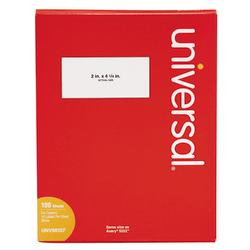 "Universal® Copier Labels, UNV90107, Shipping, 2"" x 4 1/4"", Bright White, Box Of 1,000"