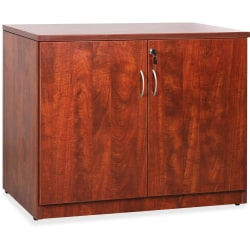 "Lorell® Essentials 36""W Storage Cabinet, Cherry"