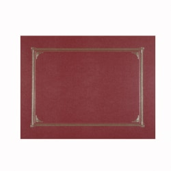 """Geographics® Document Covers, 9 3/4"""" x 12 1/2"""", Burgundy, Pack Of 6"""