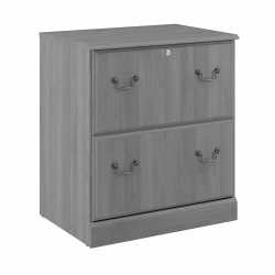 Bush Furniture Saratoga 2-Drawer Lateral File Cabinet, Modern Gray, Standard Delivery