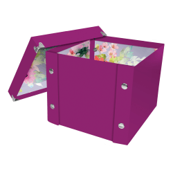 "Snap-N-Store™ Select Storage Box, 8-1/4"" x 2"" x 8-1/4"", 50% Recycled, Berry/Floral"