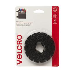 "VELCRO® Brand VELCRO Brand Sticky Back Tape - 60 mil Width x 0.06"" Length - 50 / Pack - Black"