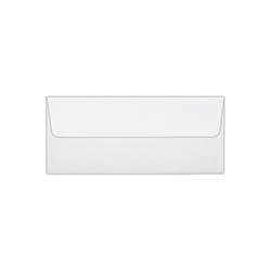 """LUX Foil-Lined Square-Flap Envelopes With Moisture Closure, #10, 4 1/8"""" x 9 1/2"""", White/Silver, Pack Of 1,000"""