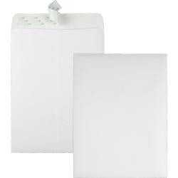 "Quality Park Redi-Strip Plain Catalog Envelopes - Catalog - #10 1/2 - 9"" Width x 12"" Length - 28 lb - Peel & Seal - Wove - 100 / Box - White"