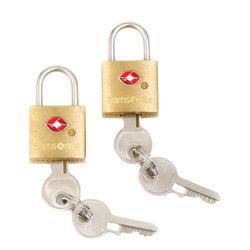 Samsonite® Luggage Key Locks, Brass, Pack Of 2