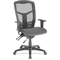 Lorell® Ergonomic Mesh High-Back Multifunction Chair, Black