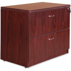 """Lorell® Chateau 36""""W Lateral 2-Drawer File Cabinet, Mahogany"""