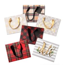 "Gartner Studios Small Gift Bags, 7-1/2""H x 6""W x 2""D, Plaid, Set Of 6 Bags"
