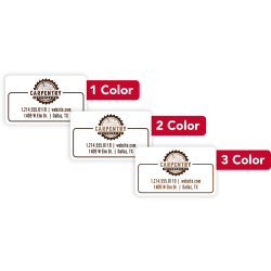 """Custom 1-Color Advertising Labels, Rectangle, 1-1/2"""" x 2-1/2"""", Roll Of 250 Labels"""