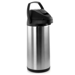 MegaChef 5 L Stainless-Steel Airpot Hot Water Dispenser For Coffee And Tea, Silver/Black