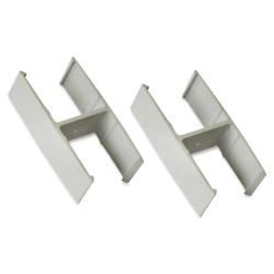 Lorell® Panel System Straight Panel Connector, 2-pack, Aluminum