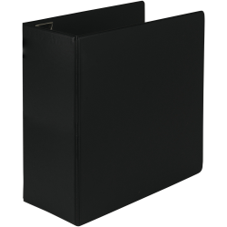 "Samsill® Earth's Choice Label Holder 3-Ring Binder, 5"" D-Rings, Black"