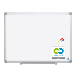 "MasterVision® Earth Gold Ultra™ Magnetic Dry-Erase Whiteboard, 72"" x 48"", 100% Recycled, Aluminum Frame With Silver Finish"