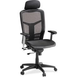 Lorell® Ergonomic Mesh High-Back Chair, Black