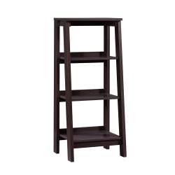 Sauder® Trestle Bookcase, 3 Shelves, Jamocha Wood