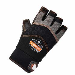 Ergodyne ProFlex 900 Half-Finger Impact Gloves, X-Large, Black