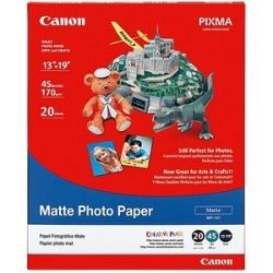 """Canon® Matte Photo Paper, 13"""" x 19"""", White, Pack Of 20 Sheets"""