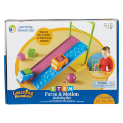 Learning Resources Force and Motion Activity Set - Theme/Subject: Learning - Skill Learning: Creativity, Motion, Force, Problem Solving, Friction, Gravity - 5 Year & Up