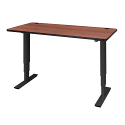 """Safco® Electric 60""""W Height-Adjustable Table Top, Rectangular, Cherry"""
