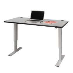 "Safco® Electric 60""W Height-Adjustable Table Top, Rectangular, Gray"