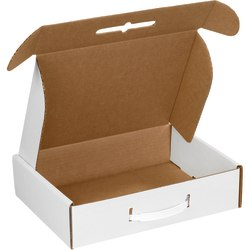 """Office Depot® Brand Corrugated Carrying Cases, 12 1/8"""" x 9 1/4"""" x 3"""", White, Pack Of 10"""