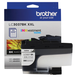 Brother INKvestment LC3037BKS Extra-High-Yield Black Ink Cartridge