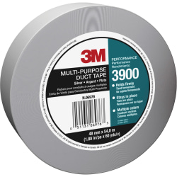 "3M Multipurpose Utility-Grade Duct Tape - 60 yd Length x 1.88"" Width - 7.6 mil Thickness - 3"" Core - Polyethylene Coated Cloth Backing - 24 / Carton - Silver"