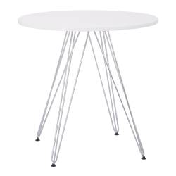 Ave Six Eiffel Dinette Table, Round, White