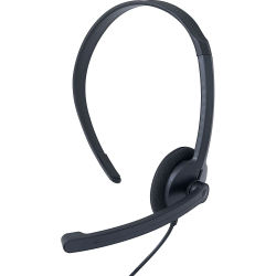 Verbatim Mono Headset with Microphone and In-Line Remote - Mono - Mini-phone (3.5mm) - Wired - 32 Ohm - 20 Hz - 20 kHz - Over-the-head - Monaural - Circumaural - 5.25 ft Cable - Omni-directional Microphone