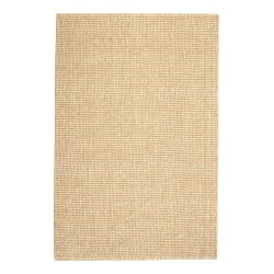 "Anji Mountain Zatar Wool And Jute Rug, 2' 6"" x 12', Natural/Tan"