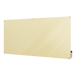 "Ghent Harmony Magnetic Glass Dry-Erase Board, 48"" x 96"", Beige"