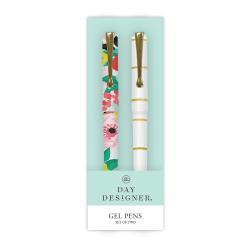 Blue Sky™ Day Designer Gel Pens, Medium Point, 1.0 mm, Assorted Barrel Colors, Black Ink, Pack Of 2 Pens
