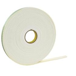 """3M™ 4462 Double Sided Foam Tape, 1/2"""" x 72 Yd., 1/32"""", White, Case Of 18"""