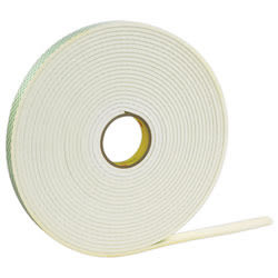 "3M™ Double Sided Foam Tape, 0.5"" x 72 Yd., Off-White, Case Of 18"