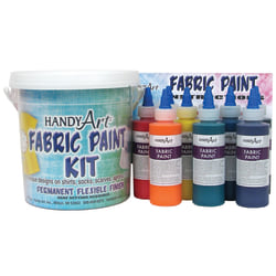 Handy Art® Fabric Paint, Assorted Colors, 4 Oz, Pack Of 9